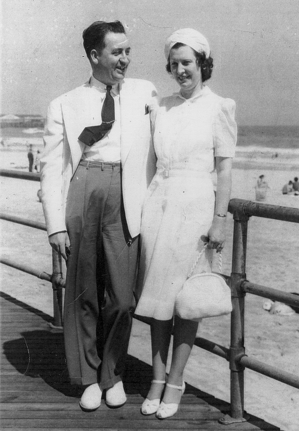 Pappy and Sweetheart on their honeymoon, 1940. When Sweetheart died in '89, he immediately moved into our home.