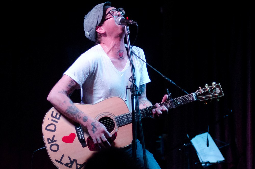 Folk-punk troubadour Micah Schnabel takes the Tower Bar stage on Thursday.