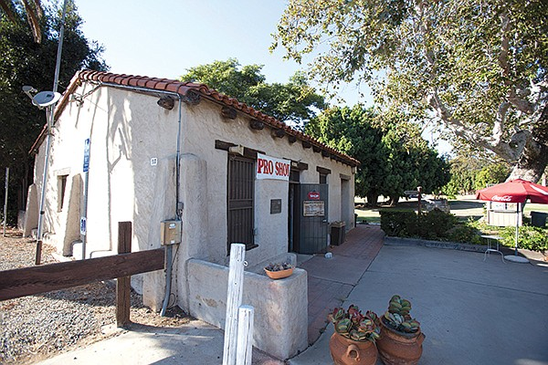Casa de Carrillo, the oldest adobe house in San Diego, now serves as the pro shop at Presidio Hills golf course in Old Town.