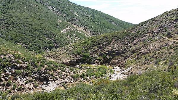 East Mesa canyon on north end of Lake Cuyamaca