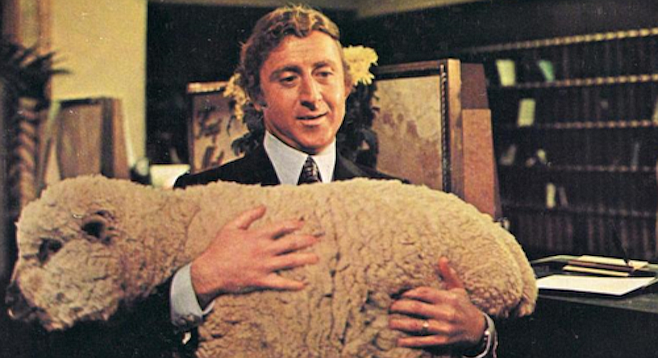 Gene Wilder and Daisy in Woody Allen's Everything You Always Wanted to Know About Sex...