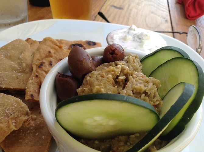 Baba ganoush, part of the $6 Mediterranean Mix