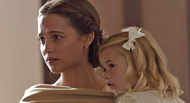 A Dingbat Stole My Baby: Alicia Vikander And Florence Clery In The Light  Between Oceans.