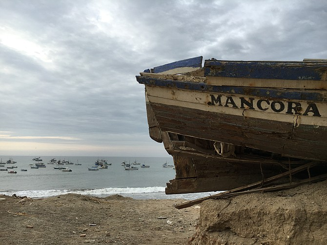 Mancora -  Boat on the beach