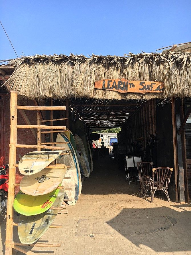 One of the many surf shops at Mancora.