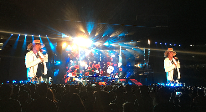 Perhaps nodding to how crazy the Guns 'N Roses reunion was, the sold-out show opened with the Looney Tunes theme.