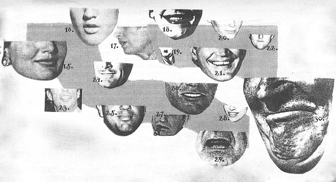 15. Jackie Onassis; 16. Elvis Presley; 17. Ayn Rand; 18. the Joker (cesar Romero); 19. Charlie Chaplin; 20. Mia Farrow; 21. David Letterman; 22. Larry Bird; 23. Morton Downey, Jr.; 24. Errol Flynn; 25. Billy Joel; 26. John Denver; 27. Edward G. Robinson; 28. Carly Simon; 29 George Bush; 30. Maurice Chevalier
