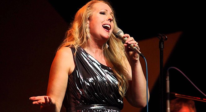 """Tucker: """"This tame-looking blonde jazz singer needed a little shock factor..."""""""