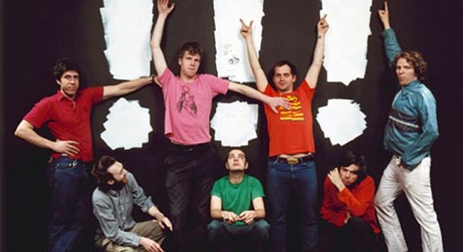 Say chk chk chk: Soda Bar sets up the always-entertaining dance-punk band !!! on Thursday night!!!