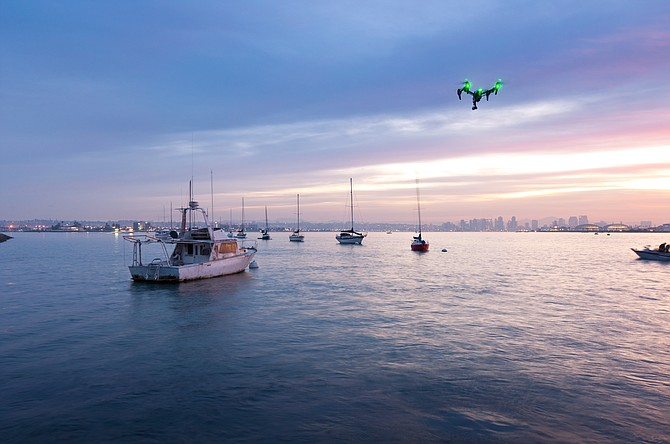 An early morning shot from Shelter Island Marina. We took the drone out for some other High-Altitude work, but I couldn't pass up on it's own stellar portrait with America's Finest City as the backdrop.
