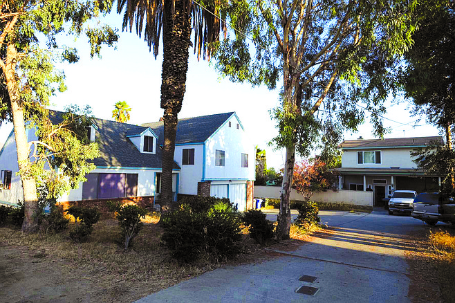 Mt. Vernon Street, Lemon Grove. Abdussattar Shaikh's house (left). Though Shaikh was a paid FBI informant, an L.A. Times reporter found out Shaikh had boarded two hijackers before the bureau did.