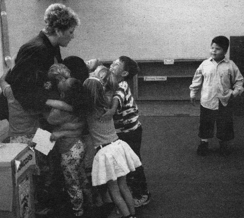 Group hug, last day of school