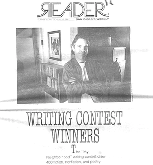 Cover of writing contest issue, including photo of Jamo Jackson, first prize winner
