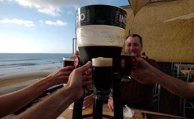 Four liters of Indio beer for five people served through La Vaquita