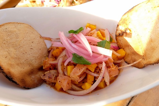 Salmon and mango ceviche was my favorite from the ceviche plates.