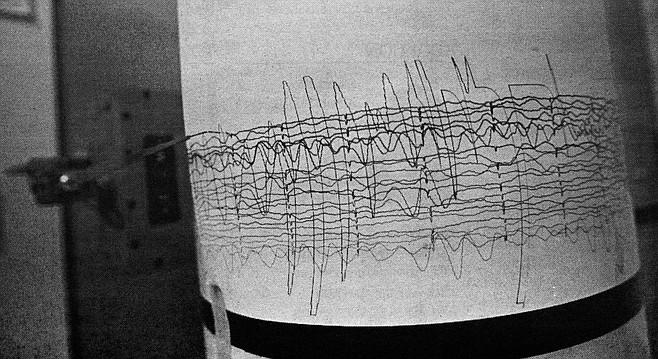 Seismograph reading, Northridge earthquake