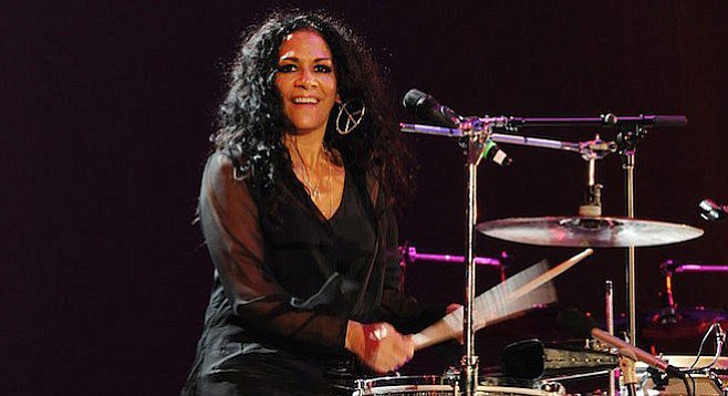 Sheila E. met Prince when she was 21, became romantically involved, and toured together on his Purple Rain tour.