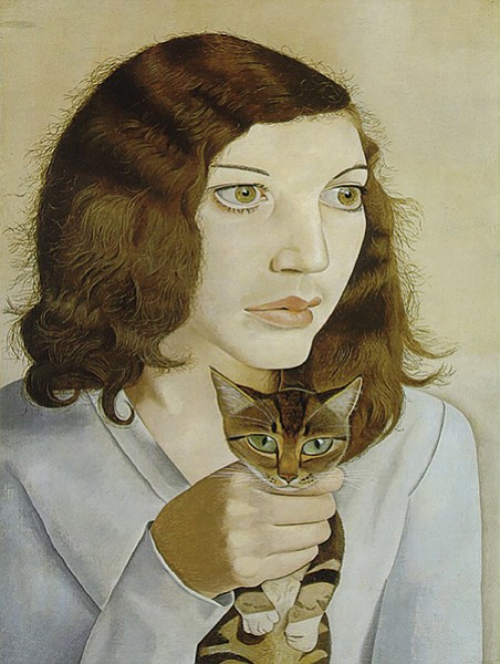 Girl with Kitten, by Lucian Freud (1947), oil on canvas