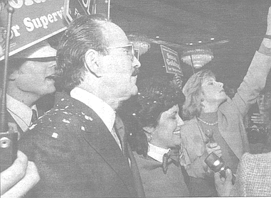 Silberman and Golding on the eve of her election to the board of supervisors