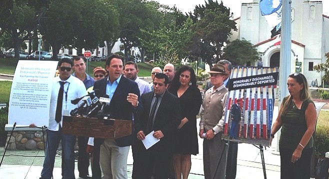 """Nathan Fletcher: """"I always thought citizenship was entitled to those who were honorably discharged, but I was wrong."""""""