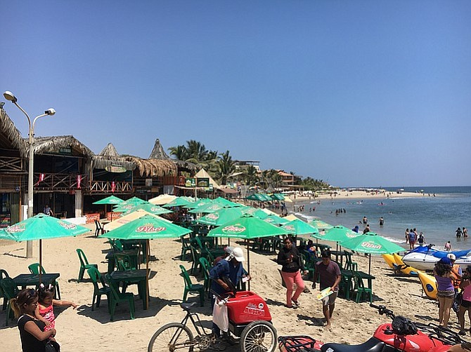 Máncora beachfront.