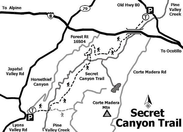 Secret Canyon: Pine Valley Creek Wilderness Trail | San ...
