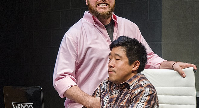 Raymond J. Lee and Jackie Chung in La Jolla Playhouse's production of Tiger Style!