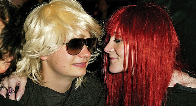 Laura Albert (right) gazes upon her brilliant creation, wunderkind author JT LeRoy