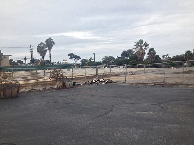 Sandag plans to build a park and ride on this site for the new Mid-Coast Trolley set to break ground in October.