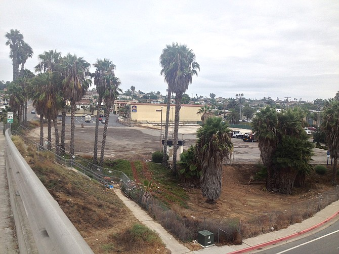 The former shopping center on Clairemont Drive was built in the 1950s and has been blighted for about a decade with only a hotel remaining in operation onsite.