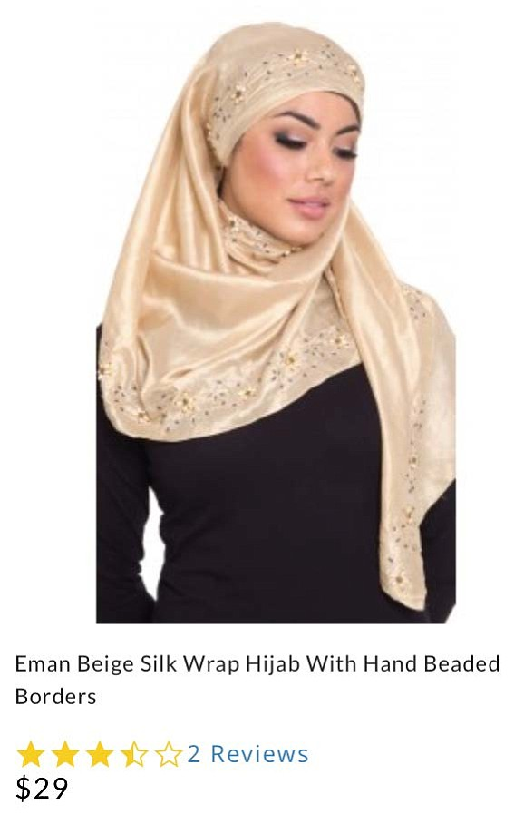 Hijab listing on Artizara