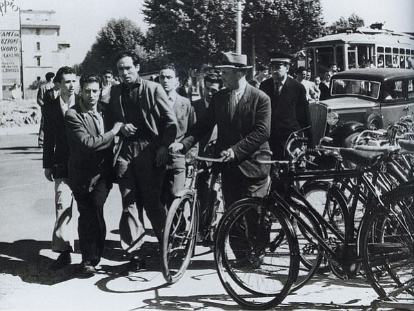 Still from The Bicycle Thief