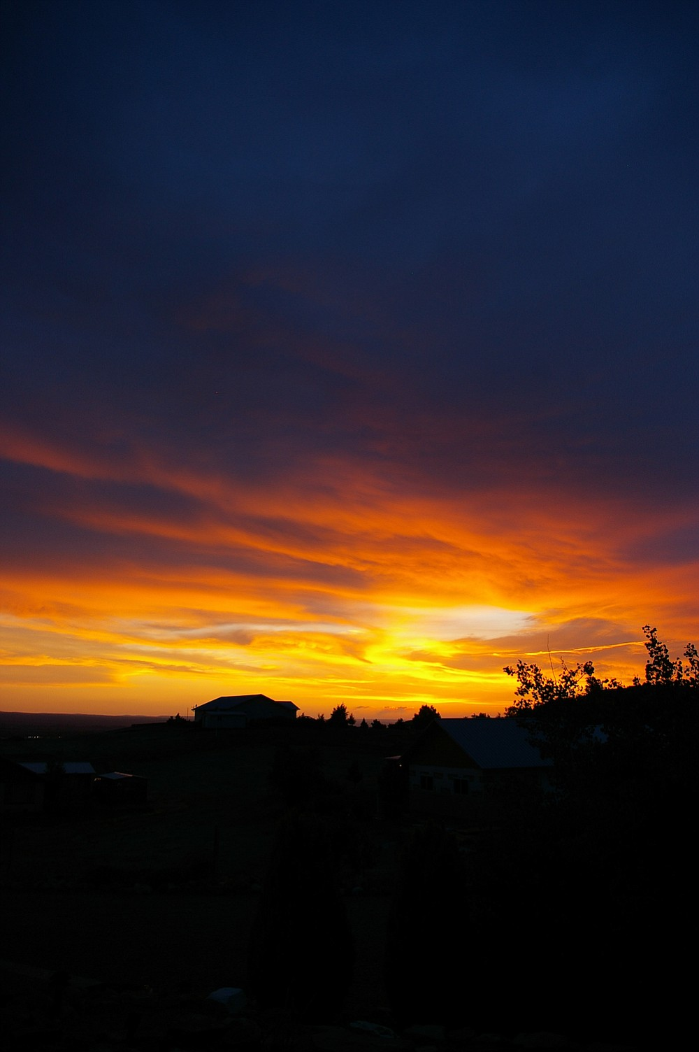 Sunset over Montrose, Colorado. The town is the gateway to the San Juan Mountains and a great jumping off point for camping in the region.