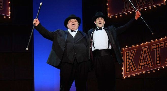 John Massey as Max and Bryan Banville  as Leo in San Diego Musical Theatre's production of The Producers