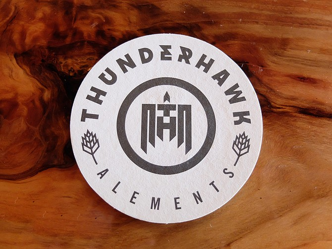 Thunderhawk Alements now serving beer on its redwood bar top.