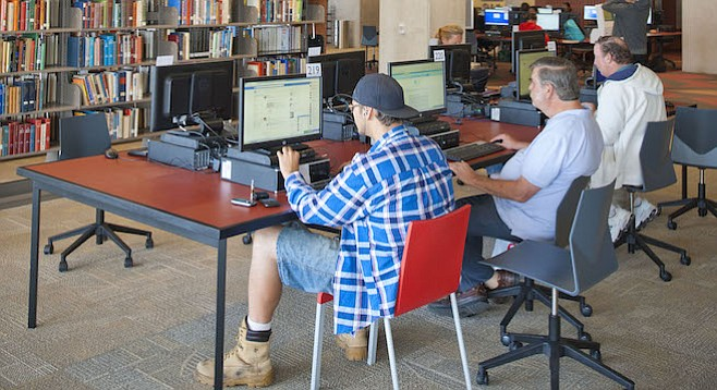 Central Library computer users