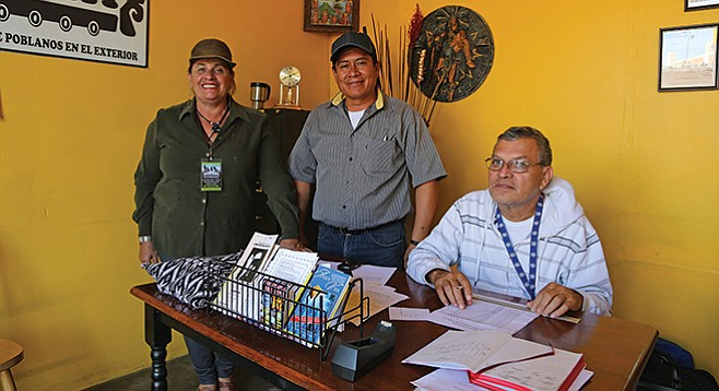 Lourdes Lizardi Lopez, José Maria Garcia Lara, and Bonifacio Lopez Valdéz. All three are migrant-rights activists and involved with or work at the Movimiento Juventud 2000 shelter.