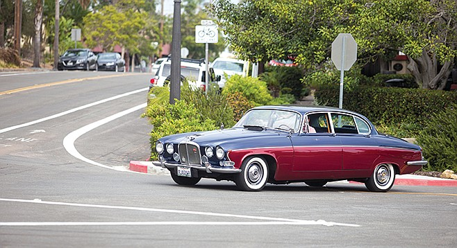 1970s Jaguar on the streets of Mission Hills