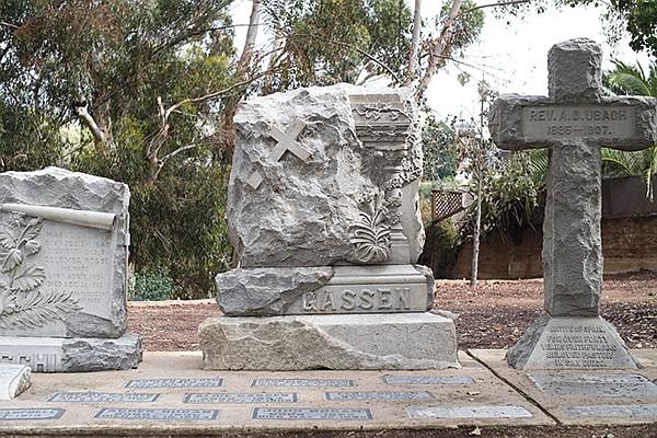 Tombstones in Pioneer Park
