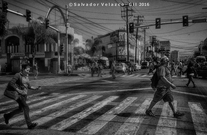 Neighborhood Photos Tijuana,Baja California,Mexico Second Avenue and Constitucion Avenue, in downtown Tijuana.