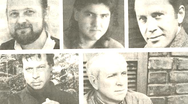 Clockwise from top left: Luis Urrea, Sherman Alexie, Richard Wilbur, Stephen Dobyns, August Kleinzahler