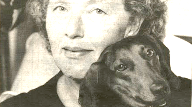 Author Moore with Lily