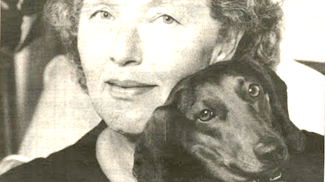 Author Moore with Lily - Image by Tom Minczeski