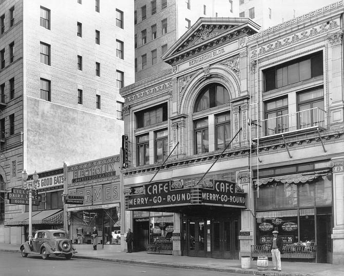 Cafe in Bernardini Building, 1936
