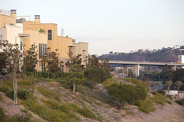 Civita homes alongside I-805