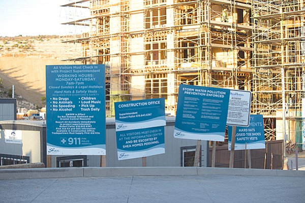 Recent construction at Civita