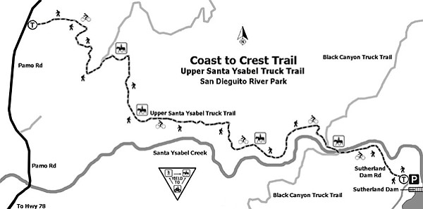 Coast to Crest Trail Map