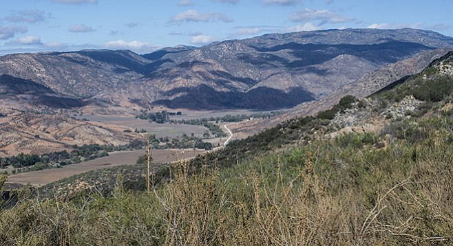 The view of Pamo Valley from the truck trail