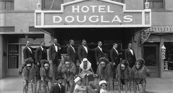 Douglas Hotel-Creole Palace, the stop for Bessie Smith, Billie Holiday, the Mills Brothers,  Duke Ellington.
