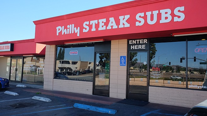Philly Steak Subs is working to expand its dining room into the unused other half of the building.